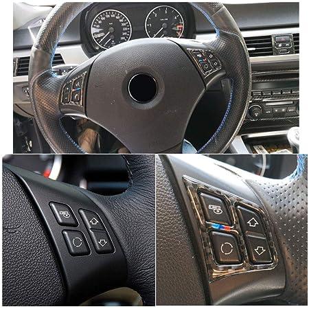 Abs Carbon Fiber Style Lenkrad Knopfleiste Trim Für 3 Series E90 2005 2012 Style 1 Auto