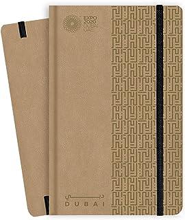 Expo 2020 Dubai A5 Note Book Dubai Heritage Style Gold - 13.5 x 21 x 1.4 cm