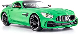 BDTCTK 1/24 Benz AMG GTR Toy Cars Model Car, Zinc Alloy Pull Back Toy car with Sound and Light for Kids Boy Girl Gift(Green)