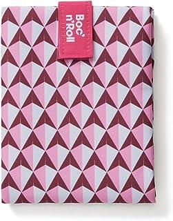 Roll'eat - Boc'n'Roll Tiles | Sac à Collation, Emballage à Sandwich Réutilisable et Ecologique sans BPA, Rose