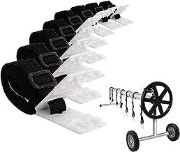 Enrollador para Piscinas, Piscina Solar Escudo Carrete Accesorio Kit, Solar Kit De Fijación De La Cubierta del Carrete, Manta Solar Correas Kit para Universal En Piscina De Tierra