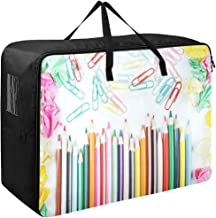 Large Storage Bins Particular Colorful Supplies Pencils Blankets Clothes Bedspread Storage Bag Fabric Closet Organization Sweater Duvet Storage Bags for Storing Bulky Bedding Accessories Wardrobe
