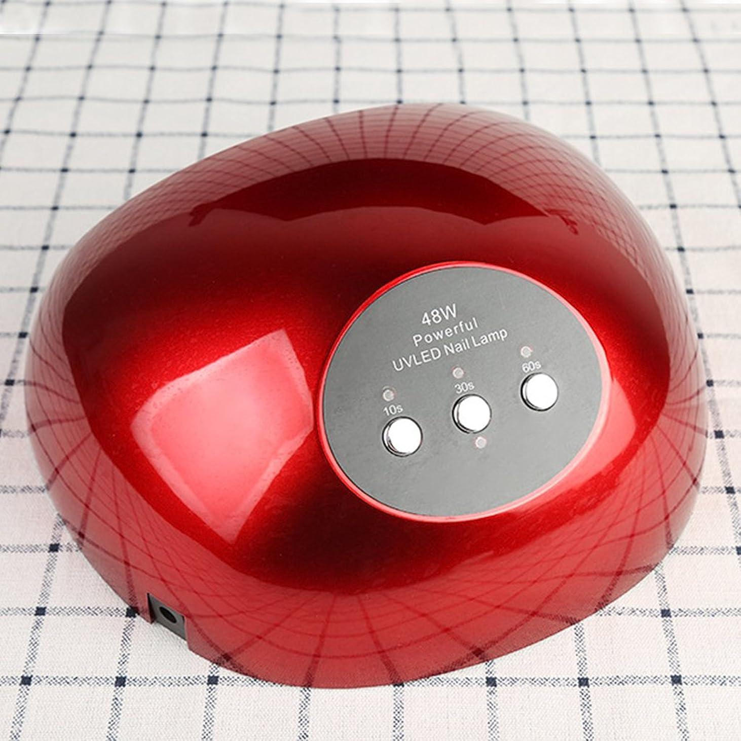 世界記録のギネスブックスノーケルヒロインLED UVネイルランプ48Wネイルドライヤーマニキュアジェルネイルポリッシュ用3タイマー設定10秒/ 30秒/ 60秒、ポータブルジェルネイルマシーン