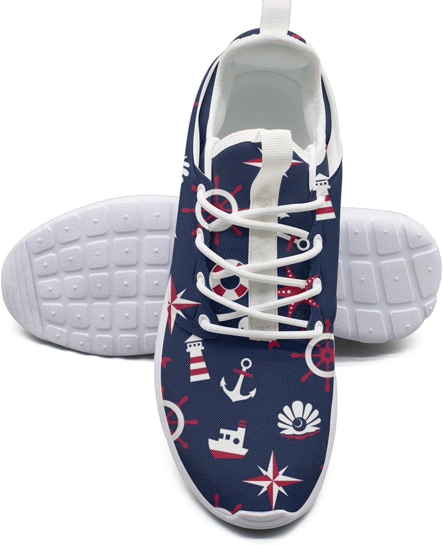 ERSER Sea Signs On A bluee Background Womens Lightweight Running shoes