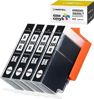 InnerTeck Compatible 564xl Black Ink Cartridges Replacement for HP 564 XL 564XL High Yield Officejet 4610 4620 4622 Deskje...