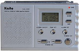 Kaito KA208 Super Mini Size AM/FM Radio with LCD Digital Display for Fine Tuning