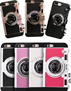 ZHHO Ful Emily Paris 3D Phone Case Vintage Camera for iPhone 11 Pro X Max Xs Xr 2020New Rose Gold for iPhone7/8