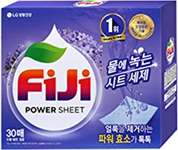 Fiji 100% Soluble Laundry Power Sheet, 30 Sheets (Lavender)