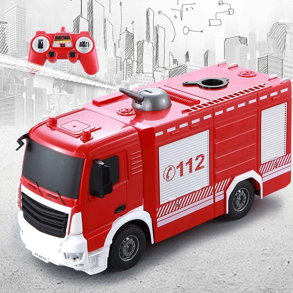 Omaha Mall Moerc RC Car 1:26 Water Spray Recommended Remote Fire Truck Control 2.4GHZ S