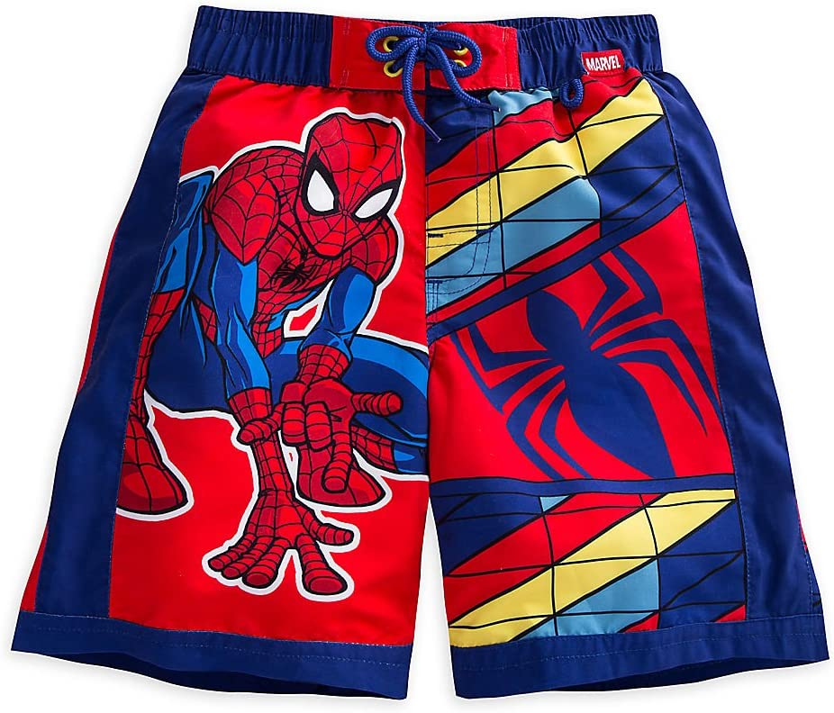 Spider-Man Boys/' Swim Trunks WITH BLUE BACKGROUND SIZE 3T -E4