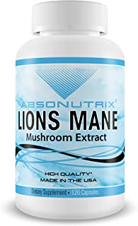Absonutrix Lions Mane Mushroom Extract Daily Vitamin Supplement - 120 Day Supply