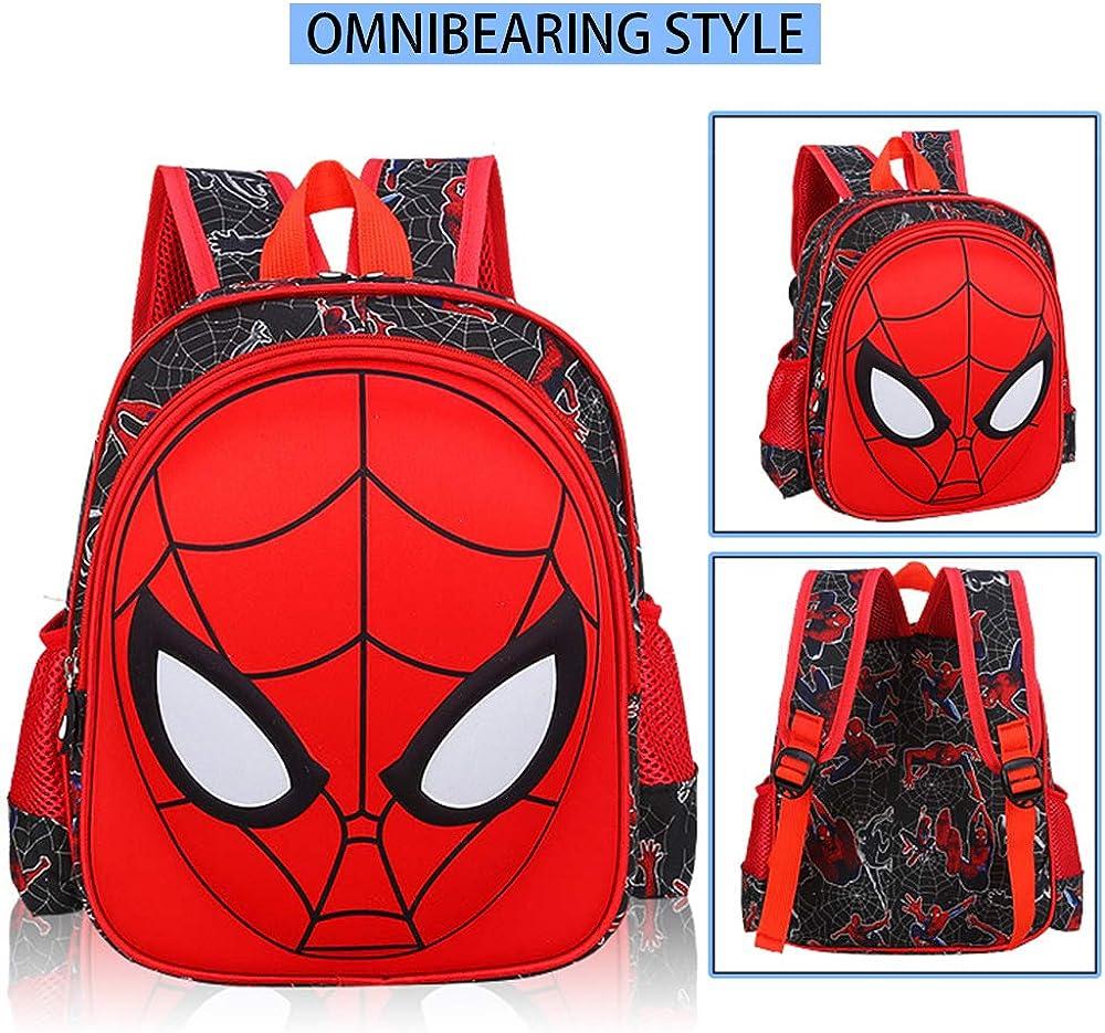 Toddler School Backpack 3D Comic Superhero Elementary Student Schoolbag Waterproof Lightweight Kids Bookbags for Boys Girls