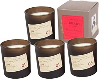 Paddywax Library 6.5 Oz. Candle - Dickens Candle - Pack Of 4