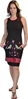 Vestido sin Mangas del Verano de Las Mujeres con el pájaro