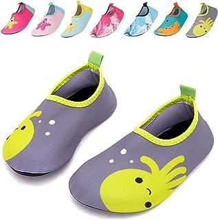 bf4253dc065 Caitin Kids Water Swim Shoes Quick Dry Non-Slip Barefoot Aqua Socks for  Beach Pool