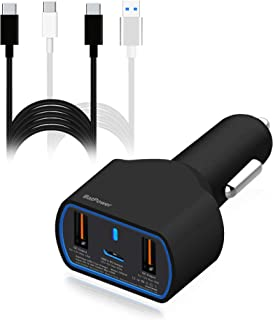 BatPower High Power Delivery 120W USB C Laptop Car Charger Compatible with New Surface Book 3 2 Laptop 4 3 Pro X 7 USB-C H...