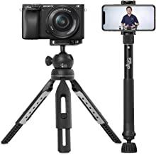 "6 in 1 Monopod Tripod Kit by Altura Photo – Universal 55"" Telescoping DSLR Camera, GoPro, Cell Phone Holder Selfie Stick w..."