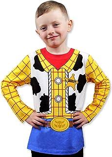 تي شيرت بأكمام طويلة مطبوع عليه عبارة Toy Story 4 Sheriff Woody Boys Girls Baby Toddler