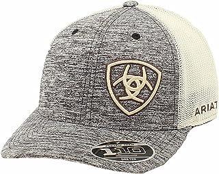 قبعة درع للرجال من ARIAT بتصميم Flex Fit Snap Back Off ، أسمر ضارب للصفرة