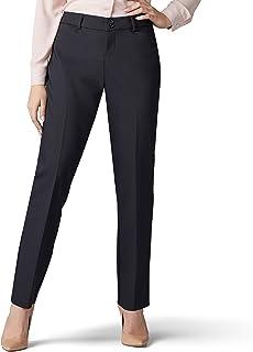 Lee Uniforms Women's Petite Secretly Shapes Regular Fit Straight Leg Pant