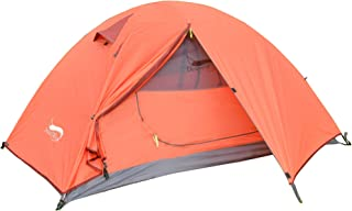 DESERT & FOX Backpacking Camping Tent, Lightweight 1-3 Person Double Layer Waterproof Portable Travel Tents for Camping, H...