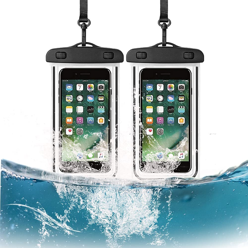 MSERICH Waterproof Phone Case, Universal Waterproof Pouch Dry Bag with Neck Strap Luminous Ornament for Water Games Protect iPhone 11 Pro XS XR X Max SE 8 7 Plus Galaxy S10 S9