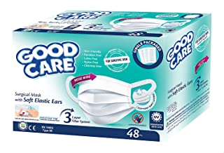 Good Care Surgical Mask with Soft Elastic Ears, 48 Pieces