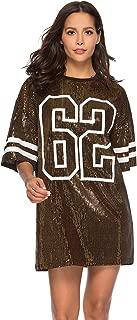 Juniors Short Sleeve Sequin Funny Dress Shirts