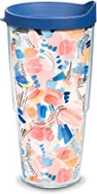 Tervis Yao Cheng - Sand and Sea Insulated Tumbler with Wrap and Blue Lid, 24oz, Clear