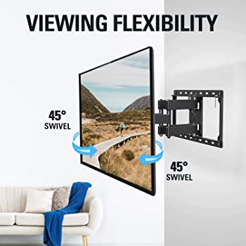 Mounting Dream UL Listed TV Mount TV Wall Mount with Swivel and Tilt for Most 32-55 Inch TV, Full Motion TV Mount wit...