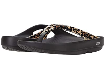 OOFOS Oolala Limited (Black Leopard) Women