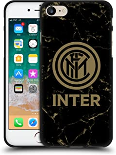 Official Inter Milan Marble 2017/18 Crest Patterns Black Soft Gel Case Compatible for iPhone 7 / iPhone 8