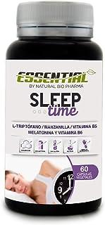 SLEEP TIME - Melatonina + Triptófano + Manzanilla + Vitamina B5 y B6 | Inductor Natural
