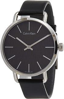 Calvin Klein Women's Black Dial Leather Band Watch - K7B211C1