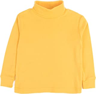 Girls Boys & Toddler Solid Turtleneck 100% Cotton Kids Shirt (2 Toddler-14 Years) Variety of Colors