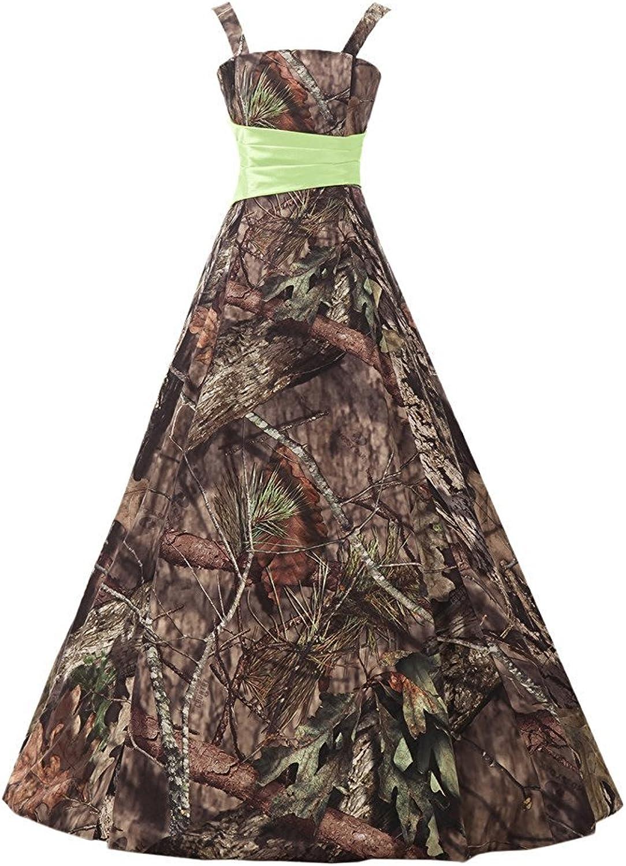 YanLian Camo Prom Dress Spaghetti Straps Bridesmaid Gowns Formal Dress YL41