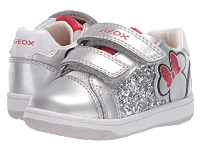 Geox Kids New Flick 13 Minnie Mouse (Toddler) (Light Grey) Girl