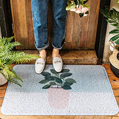 JIAJUAN Welcome Doormat Soft Non-Slip Dirt Trapper Durable Floor Mats for Home, 10mm, 2 Styles, 2 Sizes (Color : B, Size : 45