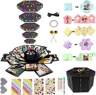 Aytai Explosion Gift Box Set, DIY Photo Album Surprise Box, Creative Explosion Gift Box for Graduation Birthday Wedding Engagement Anniversary Gifts, Valentine's Day, Mother's Day Gift, 17in x 17in