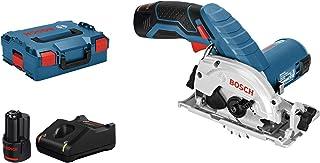 Bosch Professional 12V System sladdlös cirkelsåg GKS 12V-26 (kling-Ø: 85mm, med 2x 3,0Ah-batterier och laddare, i L-BOXX)