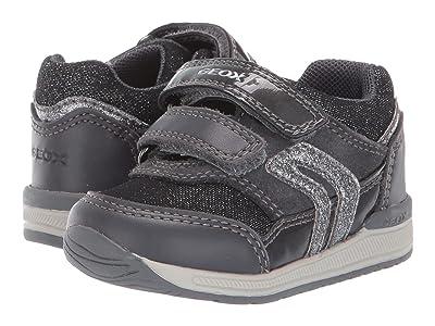 Geox Kids Rishon 20 (Infant/Toddler) (Black/Charcoal 1) Girls Shoes