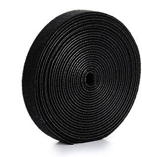 U-horizon Tiras de Velcro para Organizar Cables 2cmx500cm, Negro
