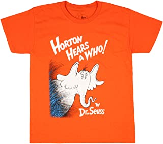 Dr. Seuss Boy's Horton Hears A Who Orange T-Shirt