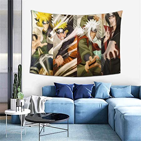 Amazon Com Anime Naruto Namikaze Minato Jiraiya Itachi Cool Tapestry Wall Hanging For Boy Bedroom Living Room Home Decorations 60 X 40 Inch Everything Else