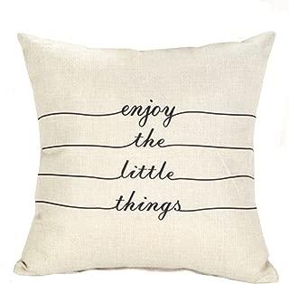 Best enjoy the little things pillow Reviews