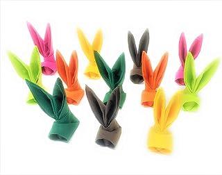 """Serviettes de Pagues""""Lapin"""" Potpourri, hauteur env. 11cm, lot de 12,pour la decoration ou en cadeau"""