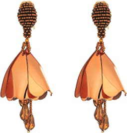 Oscar de la Renta Small Impatiens C Earrings