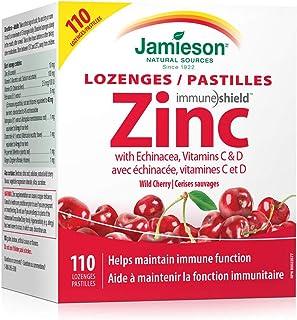 Jamieson Wild Cherry Zinc Lozenges with Echinacea, Vitamins C & D, 110 lozenges