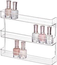 "InterDesign Clarity 12"" Bathroom Vanity Countertop Multi Level Organizer for Cosmetics, Makeup, Vitamins, Medicine - Clea..."