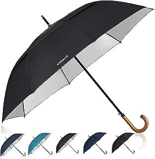 ZEKAR Wooden J-Handle Umbrella, 54/62 / 68 inch, UV & Classic Versions, Large Windproof Stick Umbrella, Auto Open for Men and Women Golf Umbrella